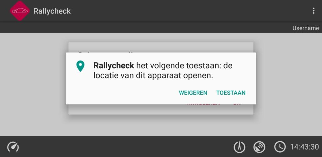 Rallycheck locatievoorzieningen
